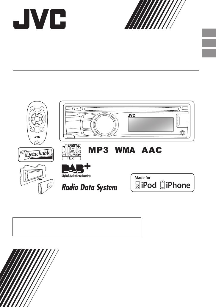 Bedienungsanleitung JVC KD-DB42 (Seite 1 von 74) (Deutsch, Englisch ...