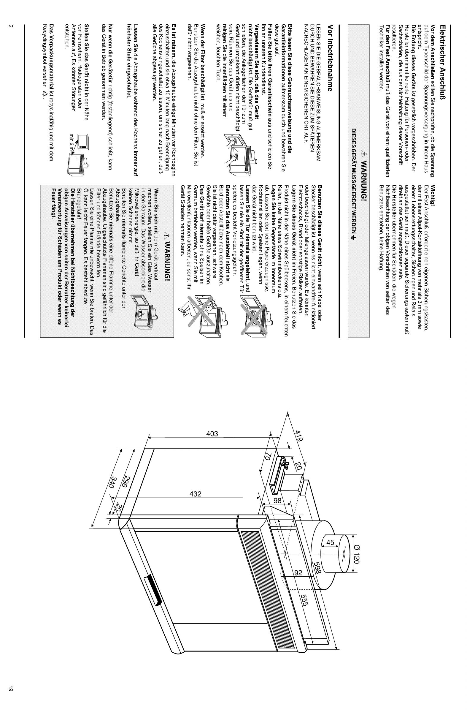 bedienungsanleitung bauknecht mnc 4113 afzuig seite 4 von 12 deutsch. Black Bedroom Furniture Sets. Home Design Ideas