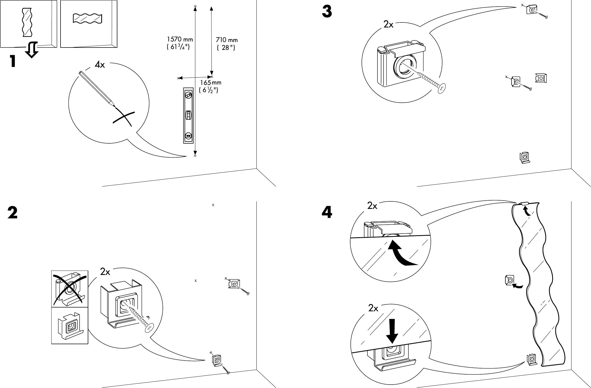 bedienungsanleitung ikea krabb spiegel seite 4 von 4 d nisch deutsch englisch spanisch. Black Bedroom Furniture Sets. Home Design Ideas