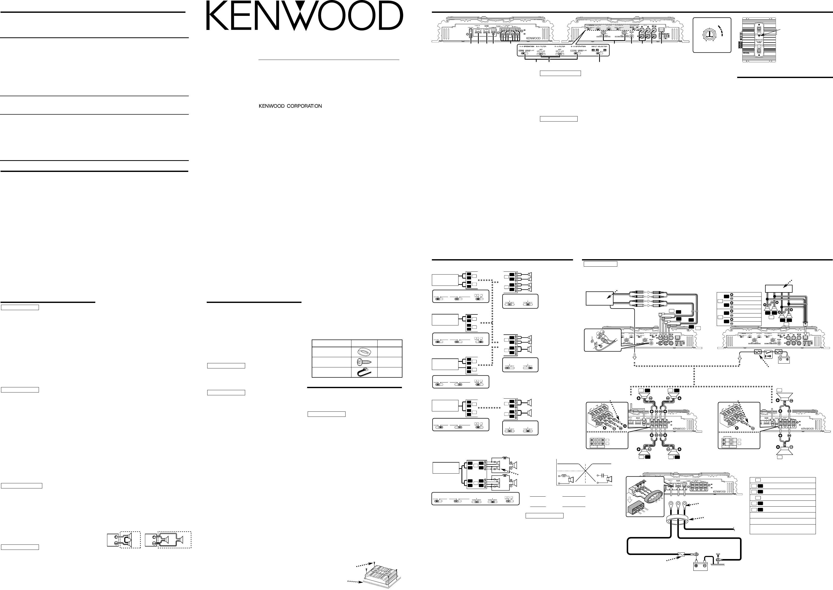 Bedienungsanleitung Kenwood KAC-6401 (Seite 1 von 2) (Deutsch ...