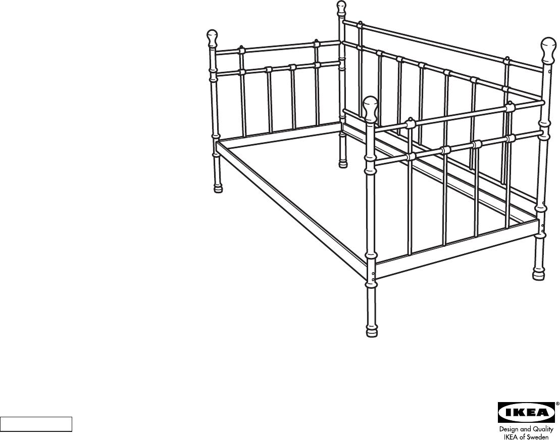 Metallbett ikea tromsnes  Bedienungsanleitung Ikea TROMSNES (Seite 1 von 4) (Dänisch ...