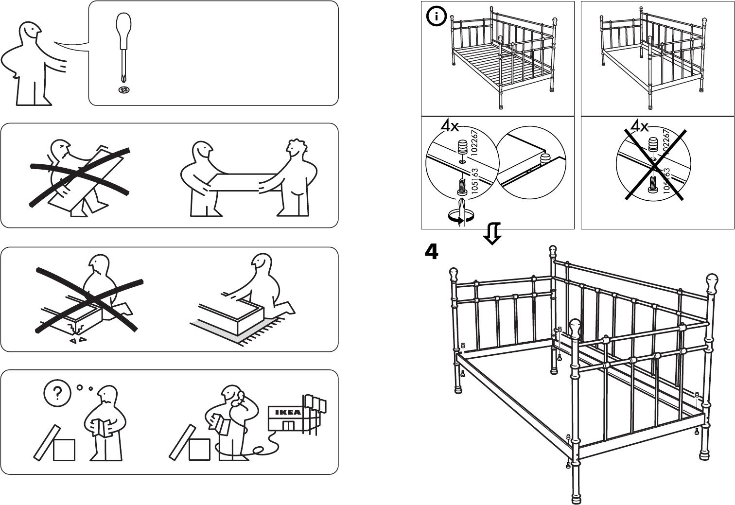 Bedienungsanleitung Ikea Tromsnes Seite 1 Von 4 Dänisch Deutsch