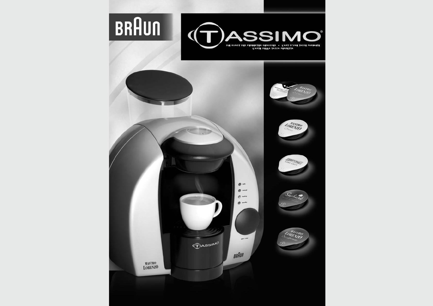 bedienungsanleitung braun tassimo seite 1 von 23 deutsch franz sisch italienisch. Black Bedroom Furniture Sets. Home Design Ideas