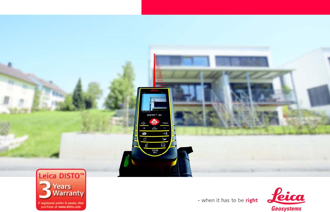 Leica Entfernungsmesser Disto D5 : Bedienungsanleitung leica disto d seite von deutsch