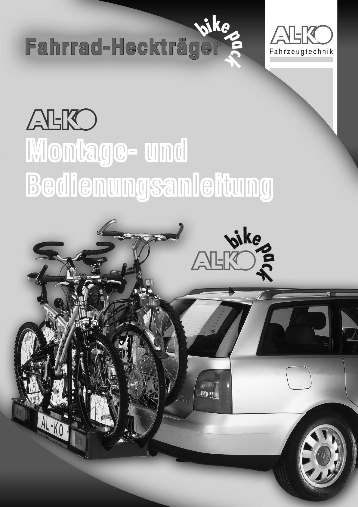 bedienungsanleitung al ko bike pack seite 1 von 32 deutsch. Black Bedroom Furniture Sets. Home Design Ideas