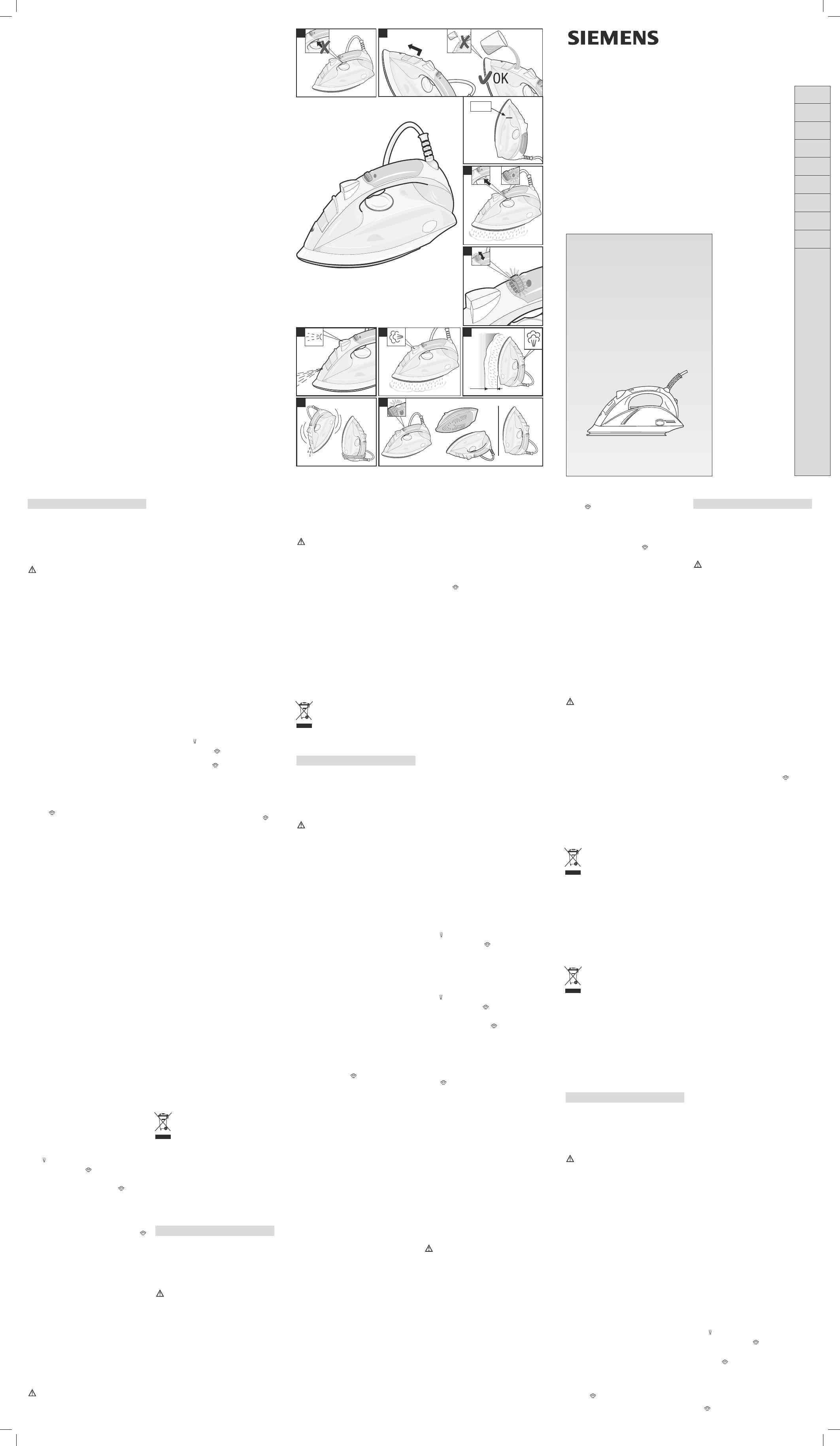 Bedienungsanleitung Siemens Ts 10515 Seite 1 Von 2 Deutsch