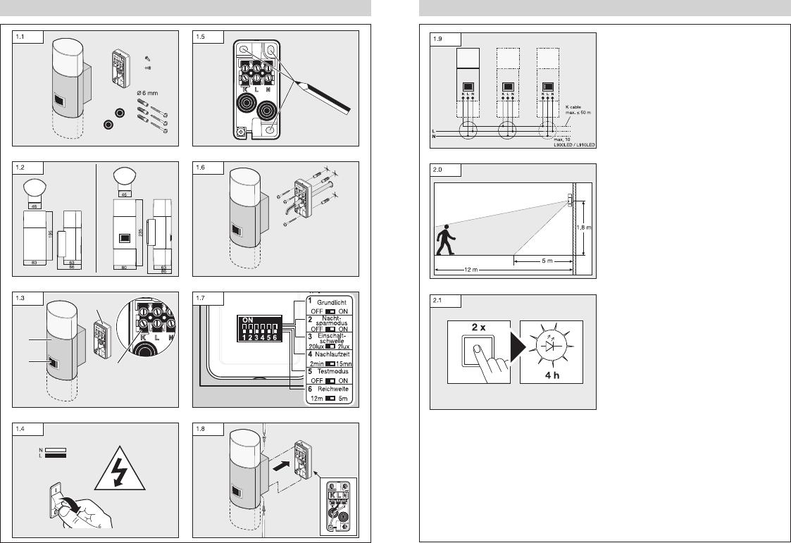 Hervorragend Bedienungsanleitung Steinel L910 LED (Seite 1 von 12) (Alle Sprachen) UI79
