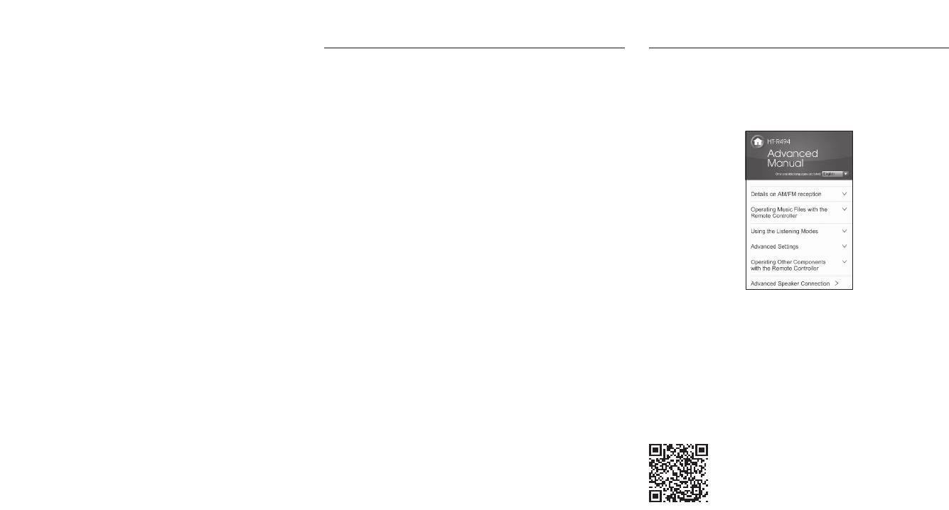 Bedienungsanleitung Onkyo HT-R494 (Seite 3 von 20) (Englisch)