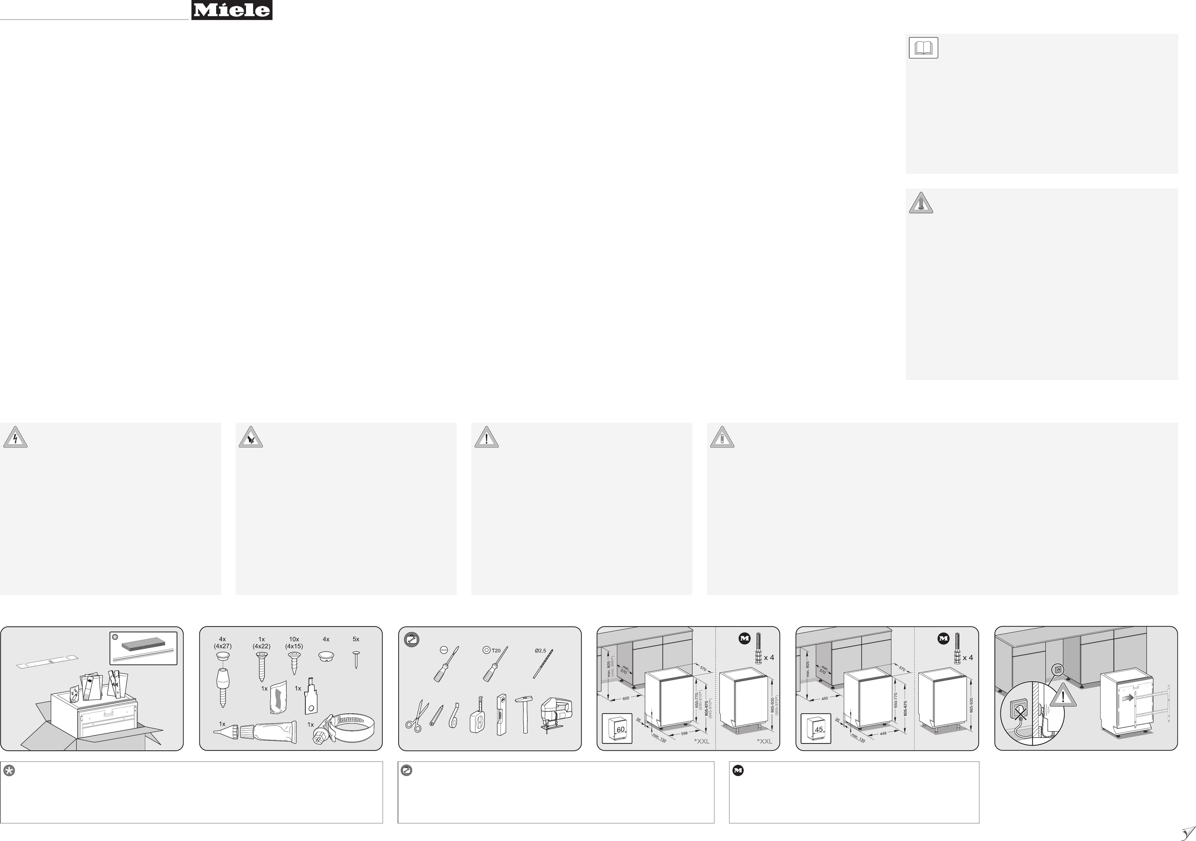 bedienungsanleitung miele g 6260 vi seite 1 von 2 alle sprachen. Black Bedroom Furniture Sets. Home Design Ideas