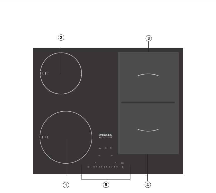 bedienungsanleitung miele km 6307 seite 16 von 80 deutsch. Black Bedroom Furniture Sets. Home Design Ideas