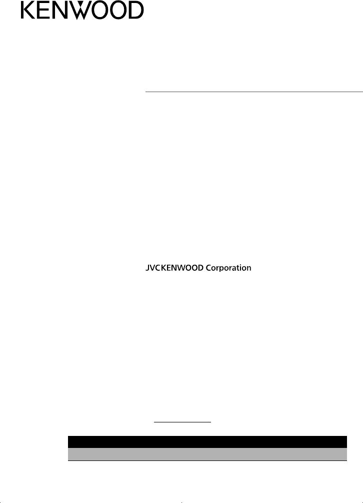 Benungsanleitung Kenwood CMOS-230 (Seite 1 von 52 ... on