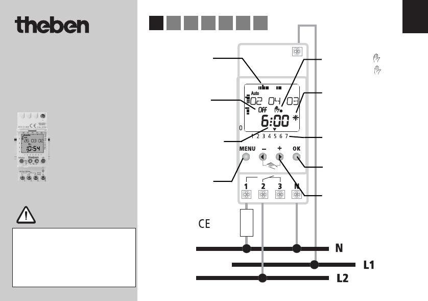 Bedienungsanleitung Theben TR 610 top Termina (Seite 1 von 7) (Deutsch)