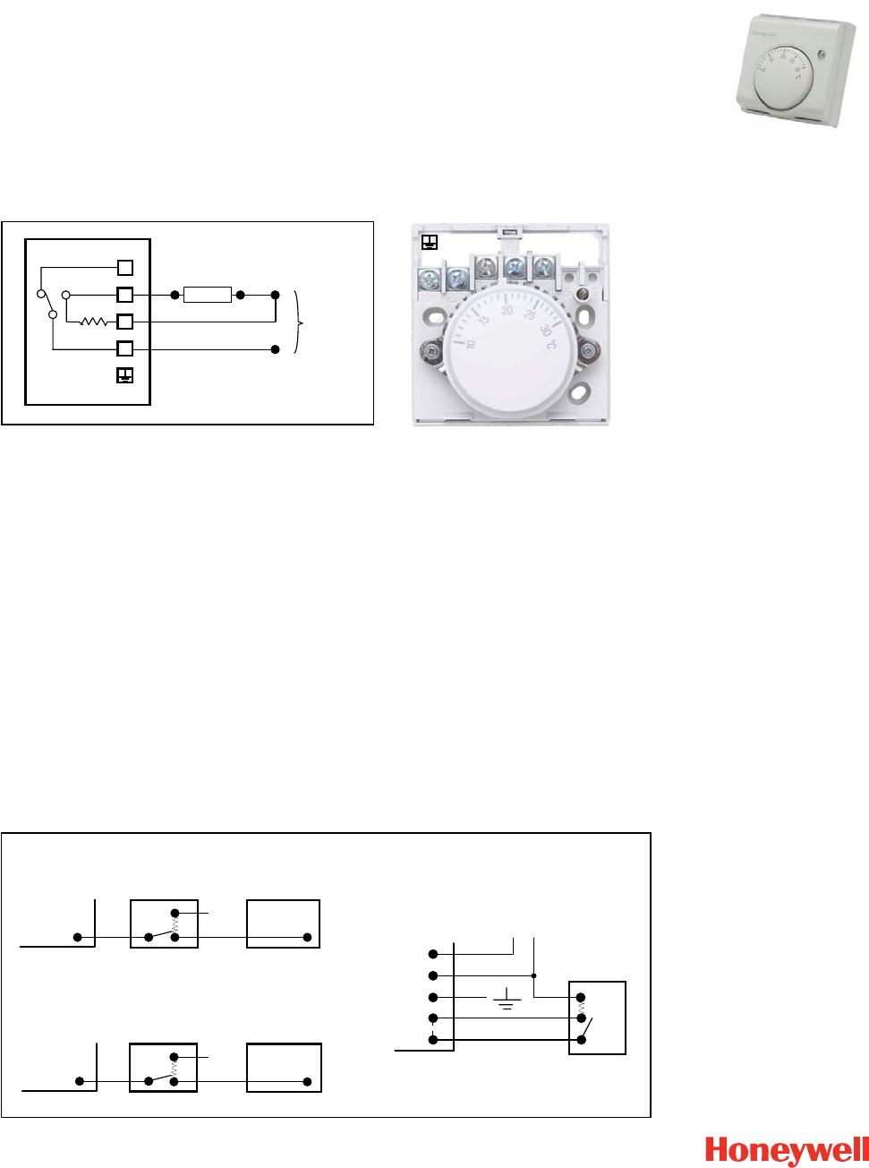 Bedienungsanleitung Honeywell T6360  Seite 1 Von 1   Englisch