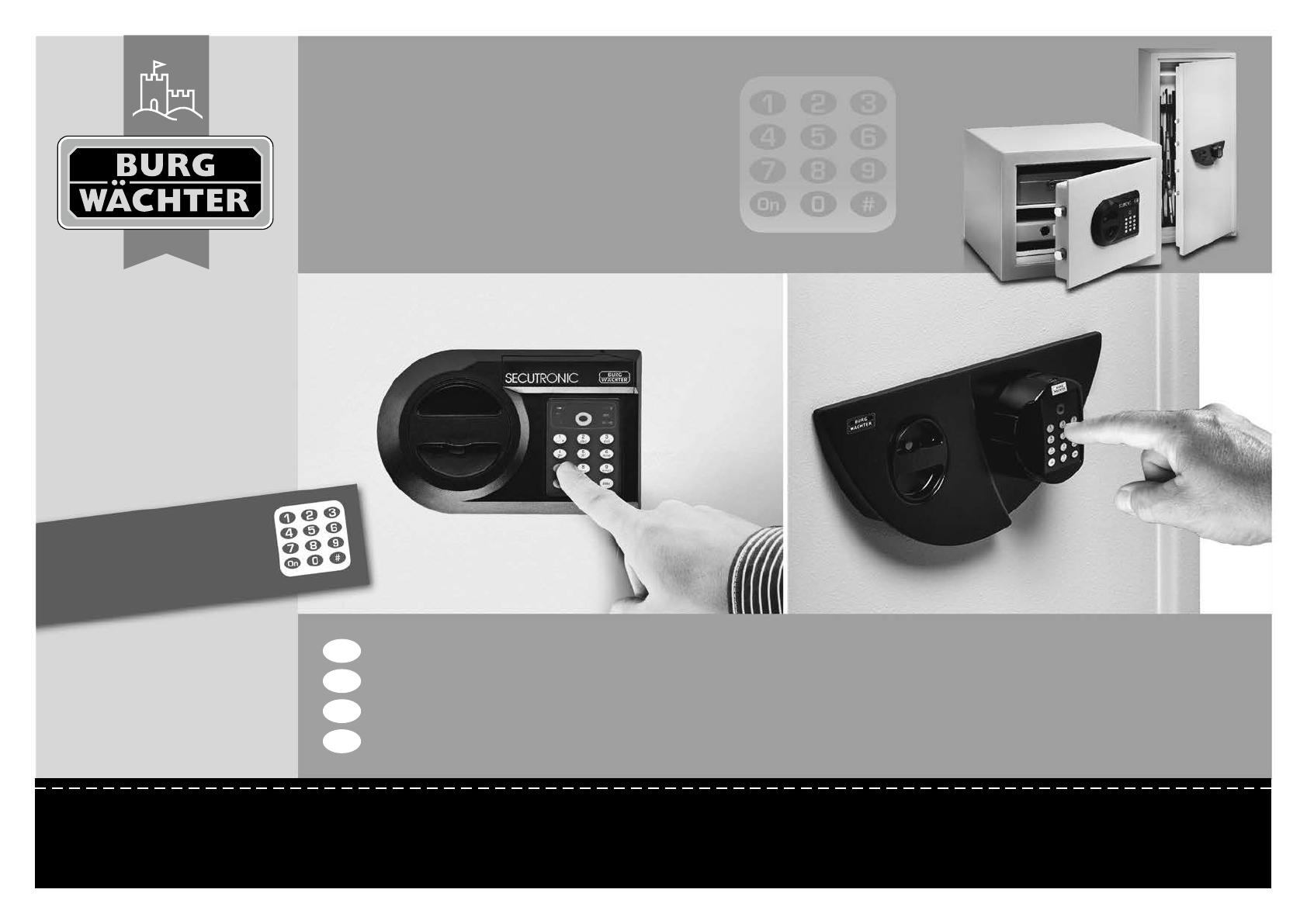 bedienungsanleitung burg wachter secutronic seite 1 von 5 deutsch englisch franz sisch. Black Bedroom Furniture Sets. Home Design Ideas