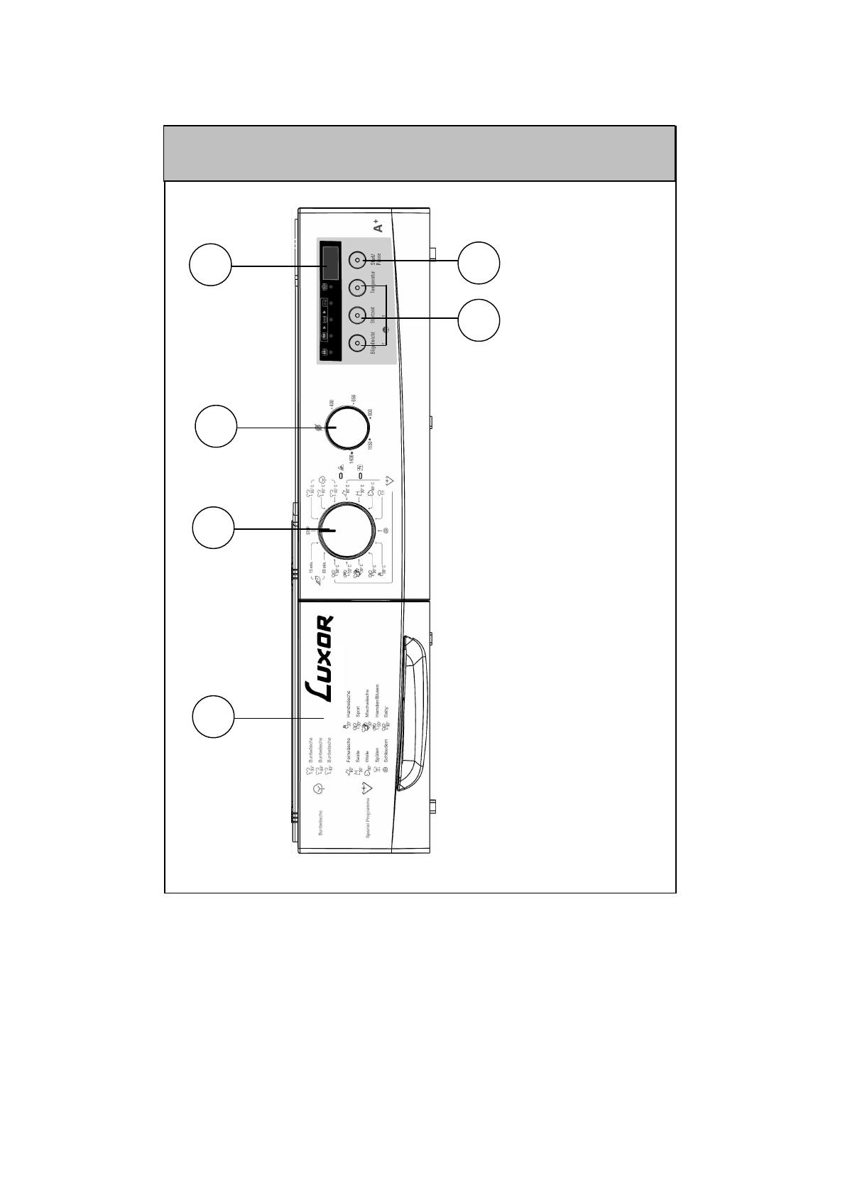 Bedienungsanleitung Luxor WM 1047 R6 A Plus Seite 16 Von 48 Deutsch