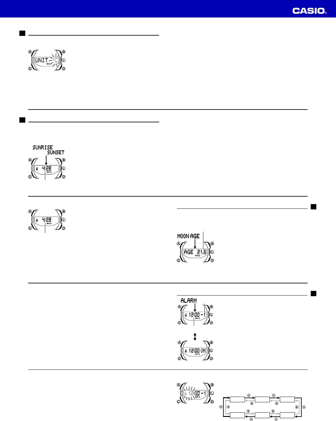 Casio 5269 Uhren Handbücher, Guides von Benutzern und andere