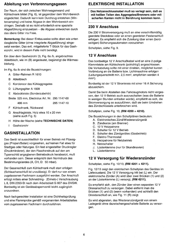 Bedienungsanleitung Electrolux rm 4200 (Seite 6 von 10) (Deutsch)