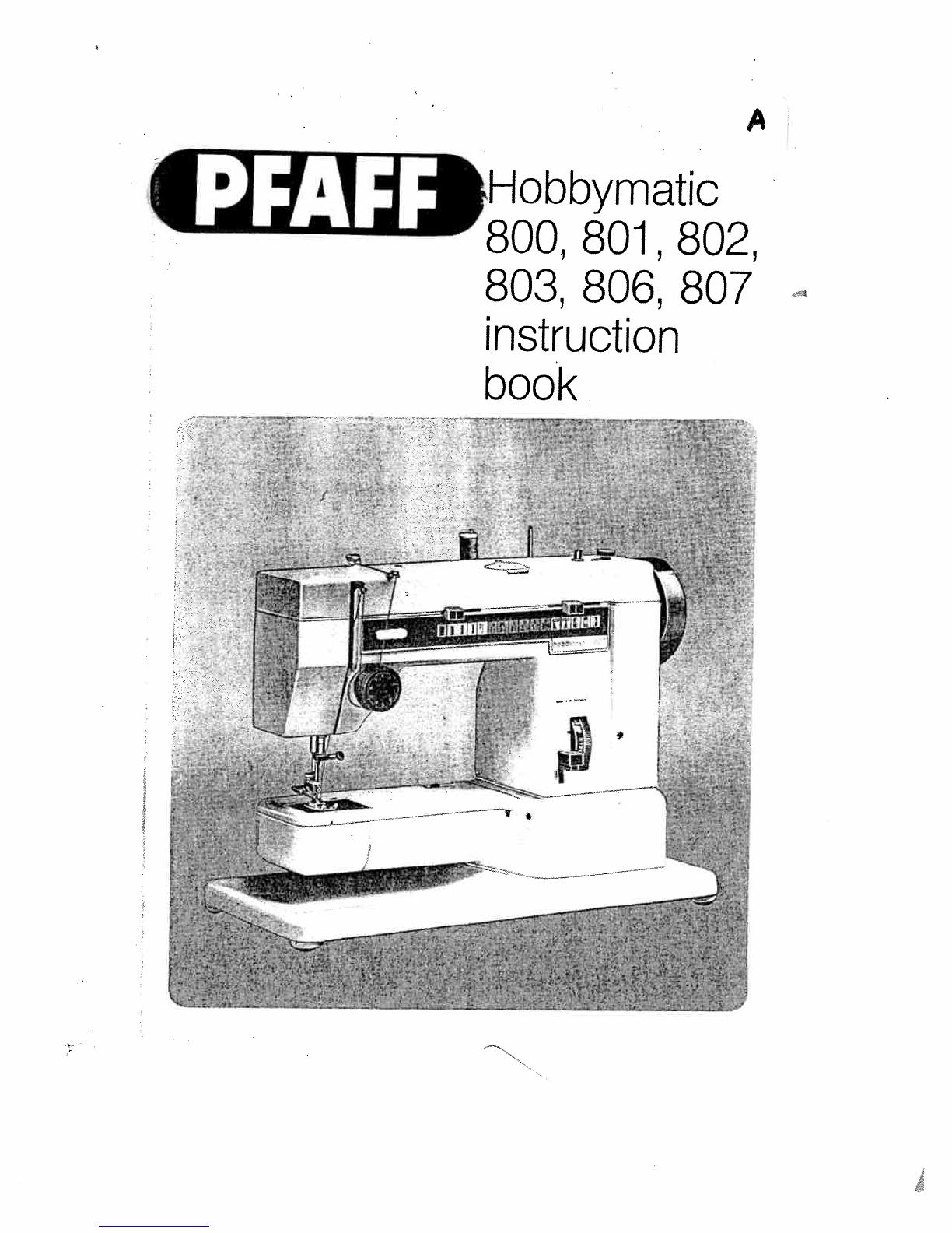 pfaff hobbymatic 803 bedienungsanleitung