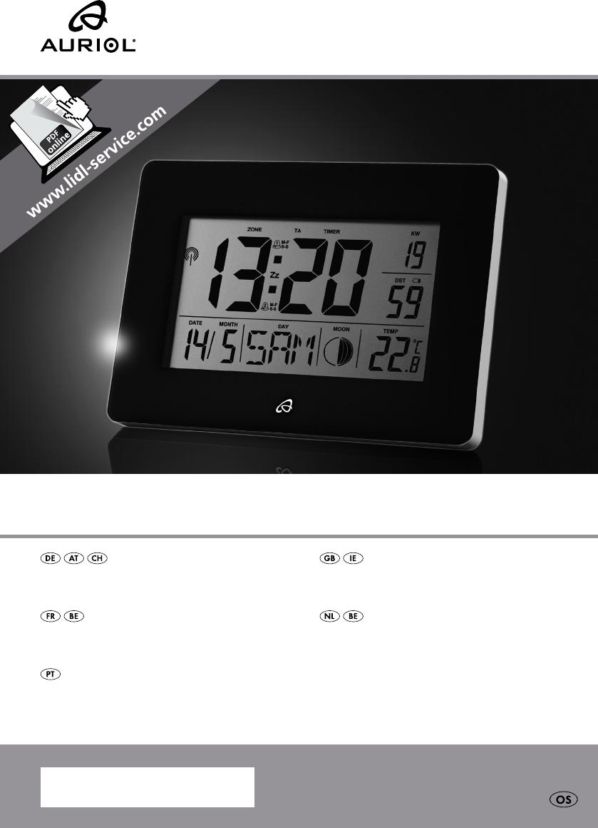 Radio Controlled Uhr Bedienungsanleitung : bedienungsanleitung auriol hg00596 ian 271042 seite 1 von 40 deutsch englisch franz sisch ~ Watch28wear.com Haus und Dekorationen