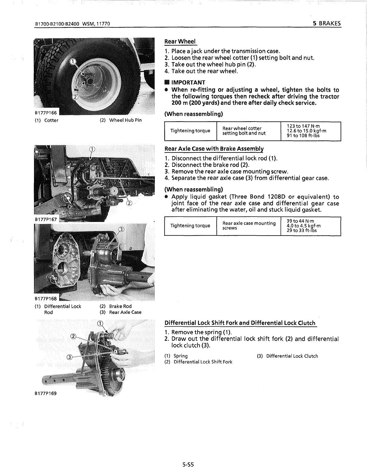 Bedienungsanleitung Kubota B2100 (Seite 21 von 233) (Englisch)