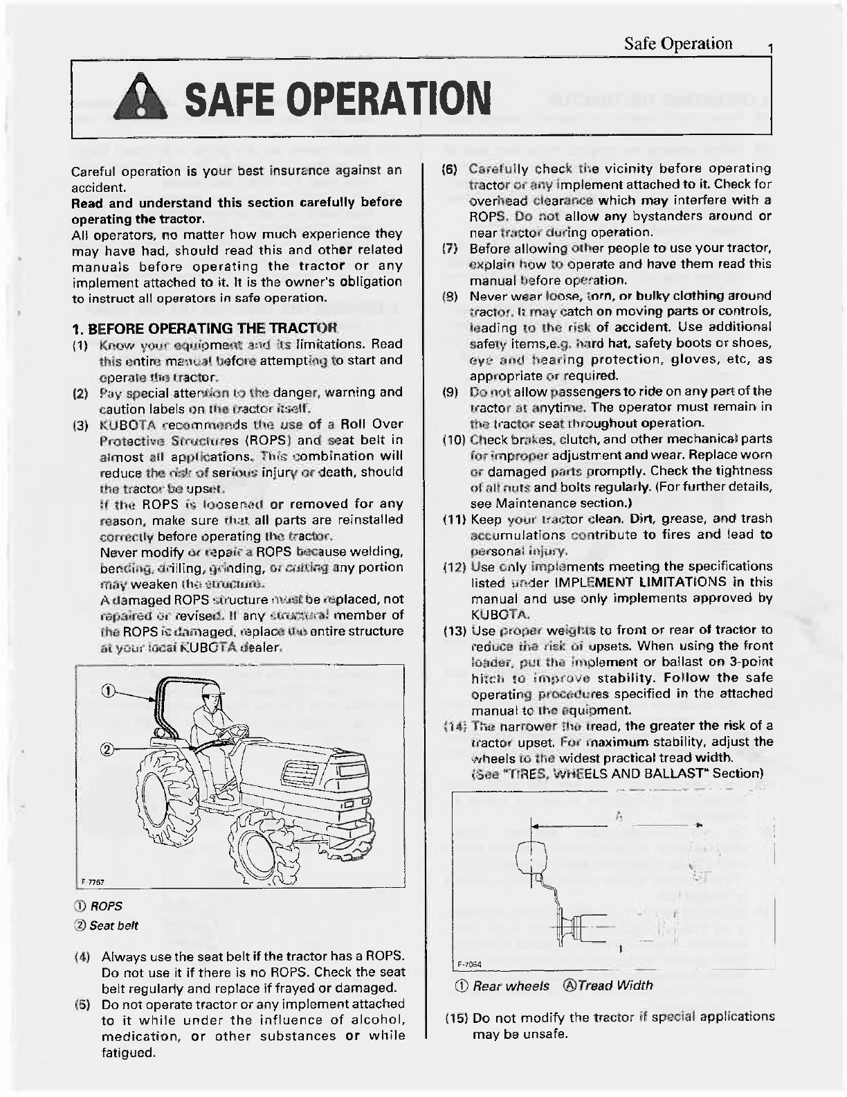 Bedienungsanleitung Kubota L4200 Seite 1 Von 79 Englisch Wiring Diagram Nchste