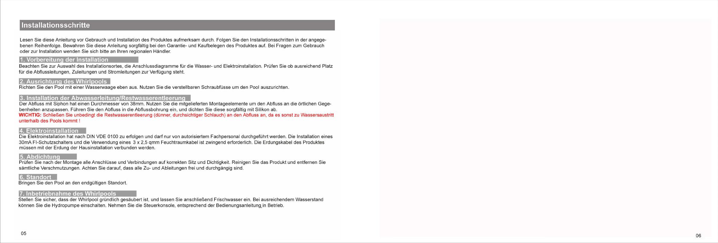 Bedienungsanleitung Eago AM152 Whirlpool (Seite 4 von 10) (Deutsch)