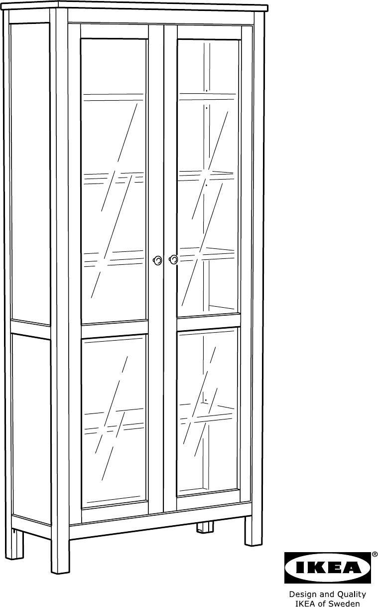Bedienungsanleitung Ikea 902 135 87 Hemnes Vitrinekast Seite 1 Von