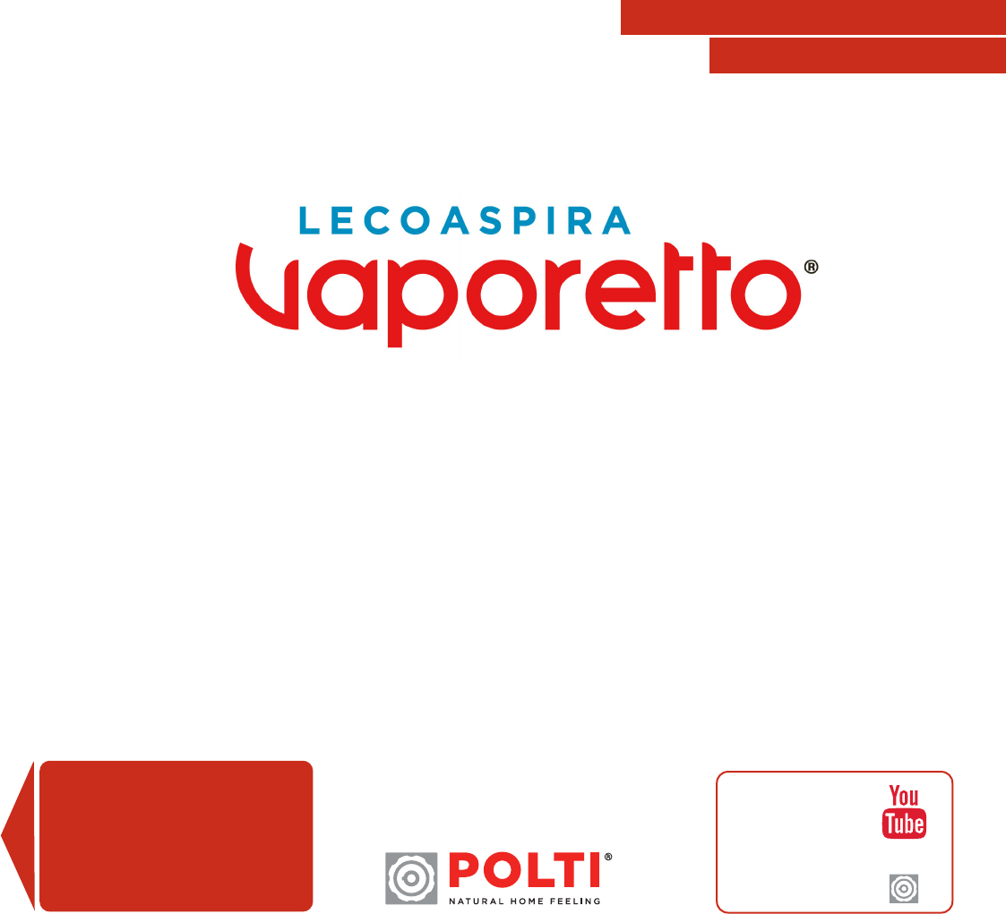 Vaporetto Intelligent Lecoaspira.Bedienungsanleitung Polti Vaporetto Lecoaspira Fav80 Turbo