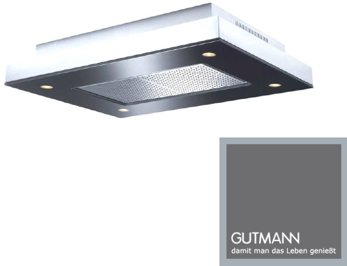 gutmann dunstabzug classic wall extractor hoods with. Black Bedroom Furniture Sets. Home Design Ideas