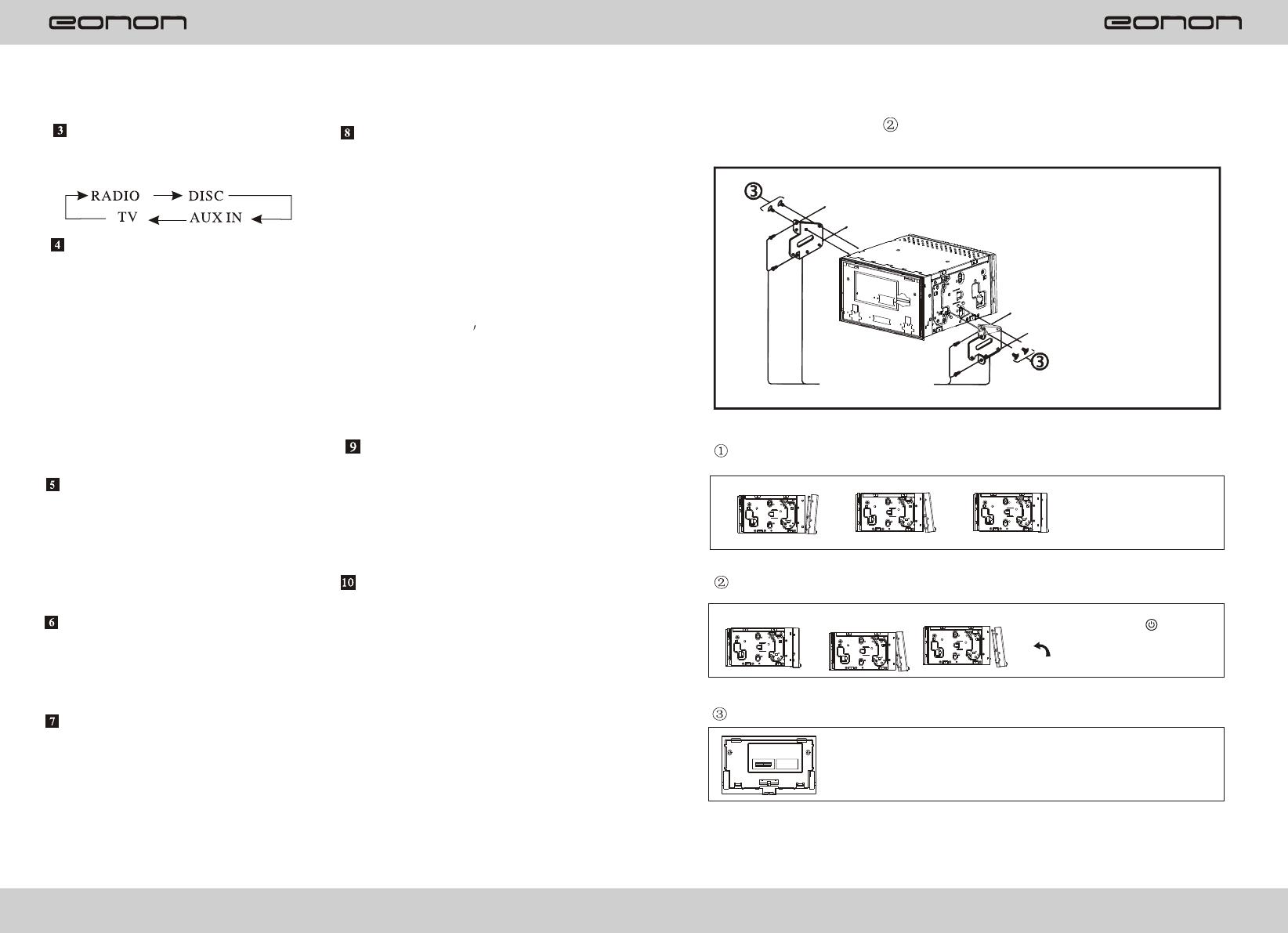 Bedienungsanleitung Eonon G2201 Seite 1 Von 20 Englisch Wiring Diagram Panel Illustration