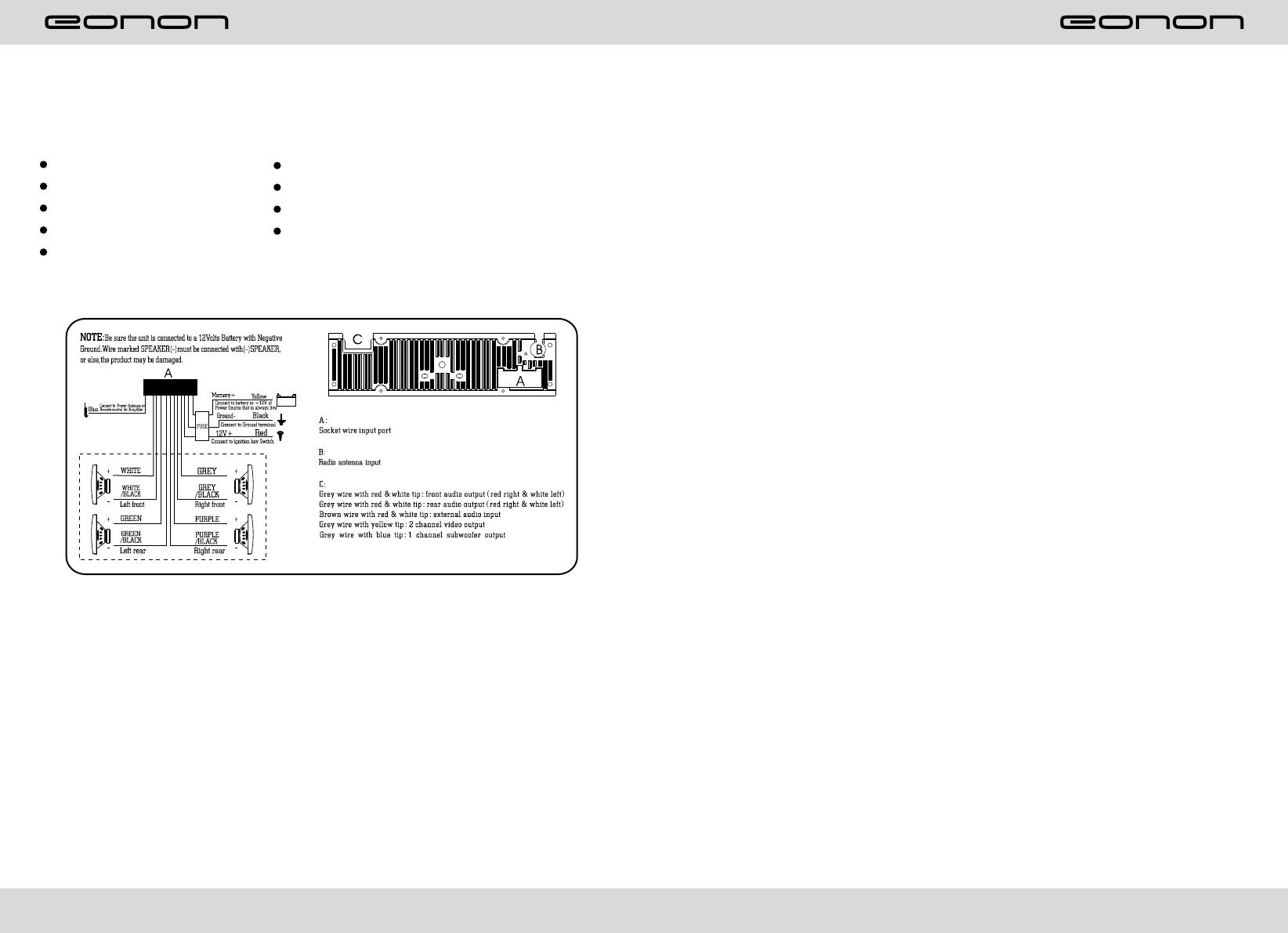 Bedienungsanleitung Eonon E1095 Seite 1 Von 16 Englisch Wiring Diagram 128
