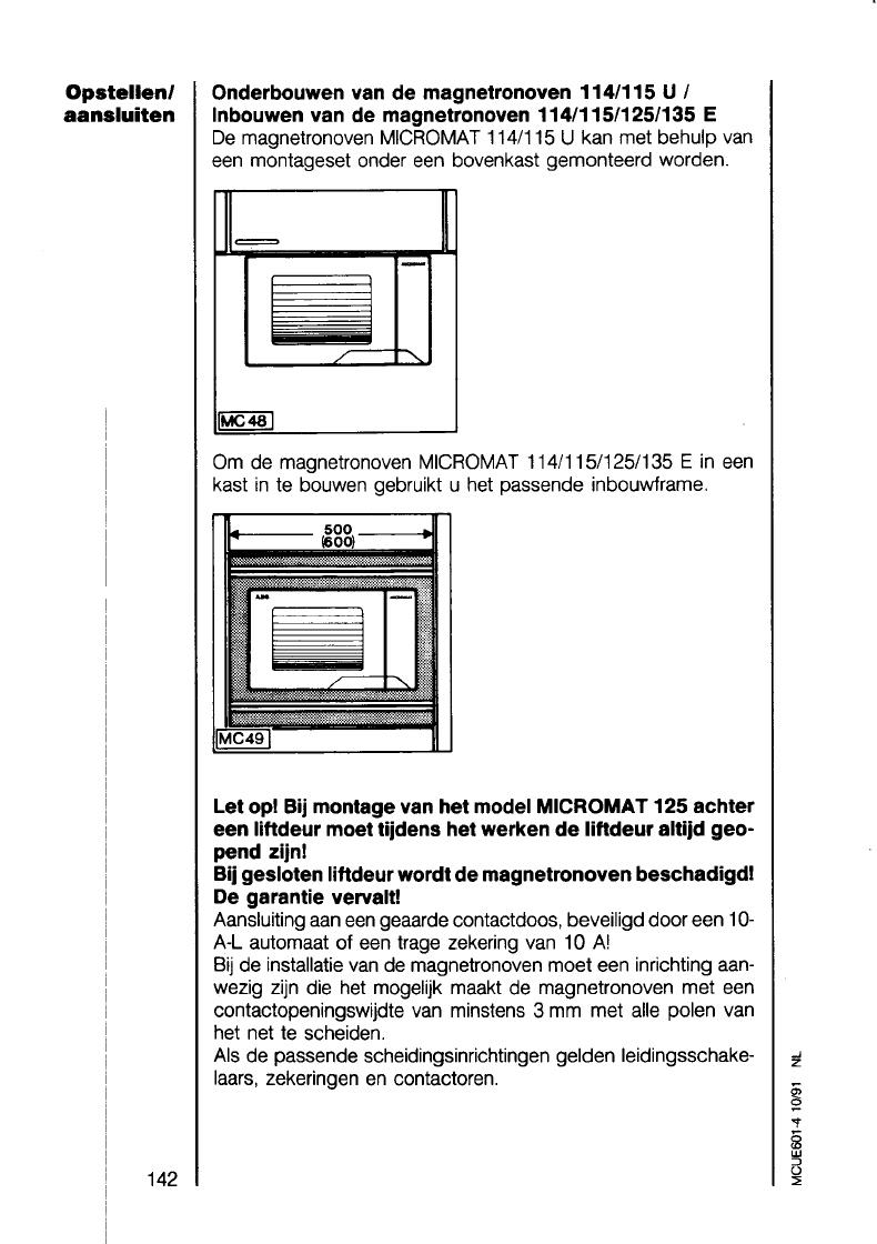 bedienungsanleitung aeg micromat 115 e u d seite 27 von 39 holl ndisch. Black Bedroom Furniture Sets. Home Design Ideas