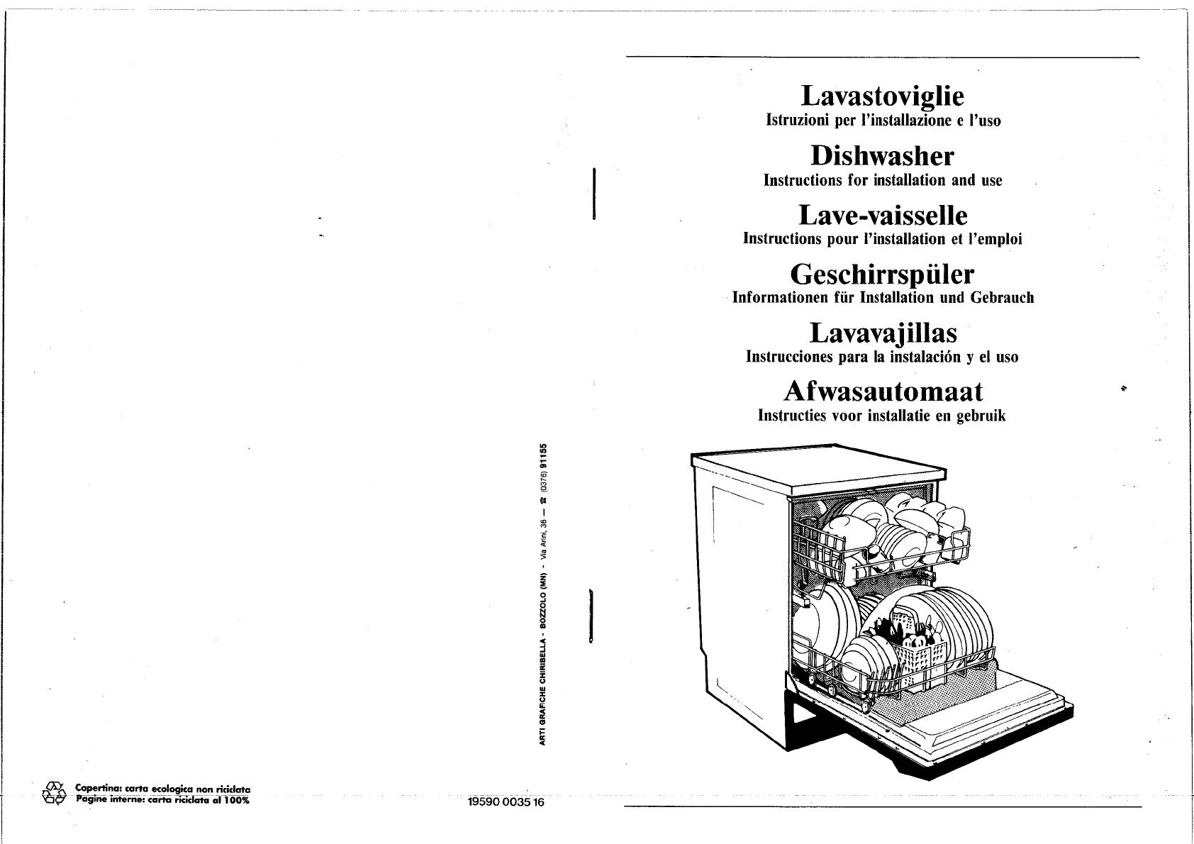 bedienungsanleitung smeg pl 424 eb x (seite 1 von 13  ~ Geschirrspülmaschine Englisch