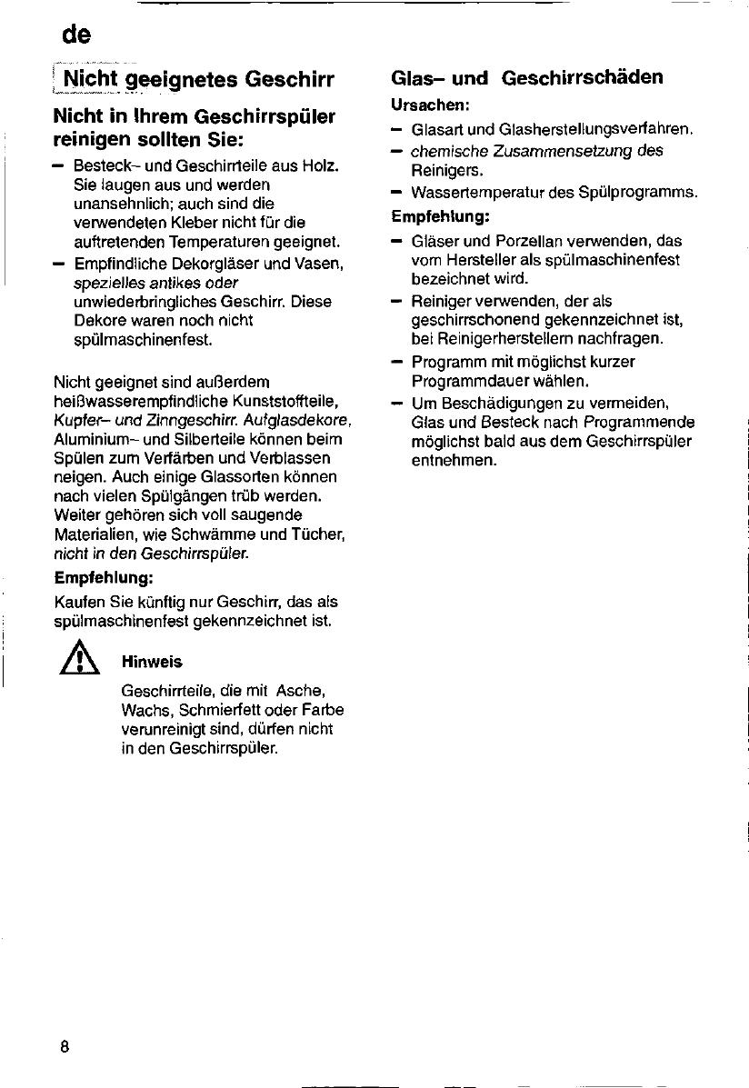 Bedienungsanleitung Siemens Se53231 Seite 8 Von 88 Deutsch