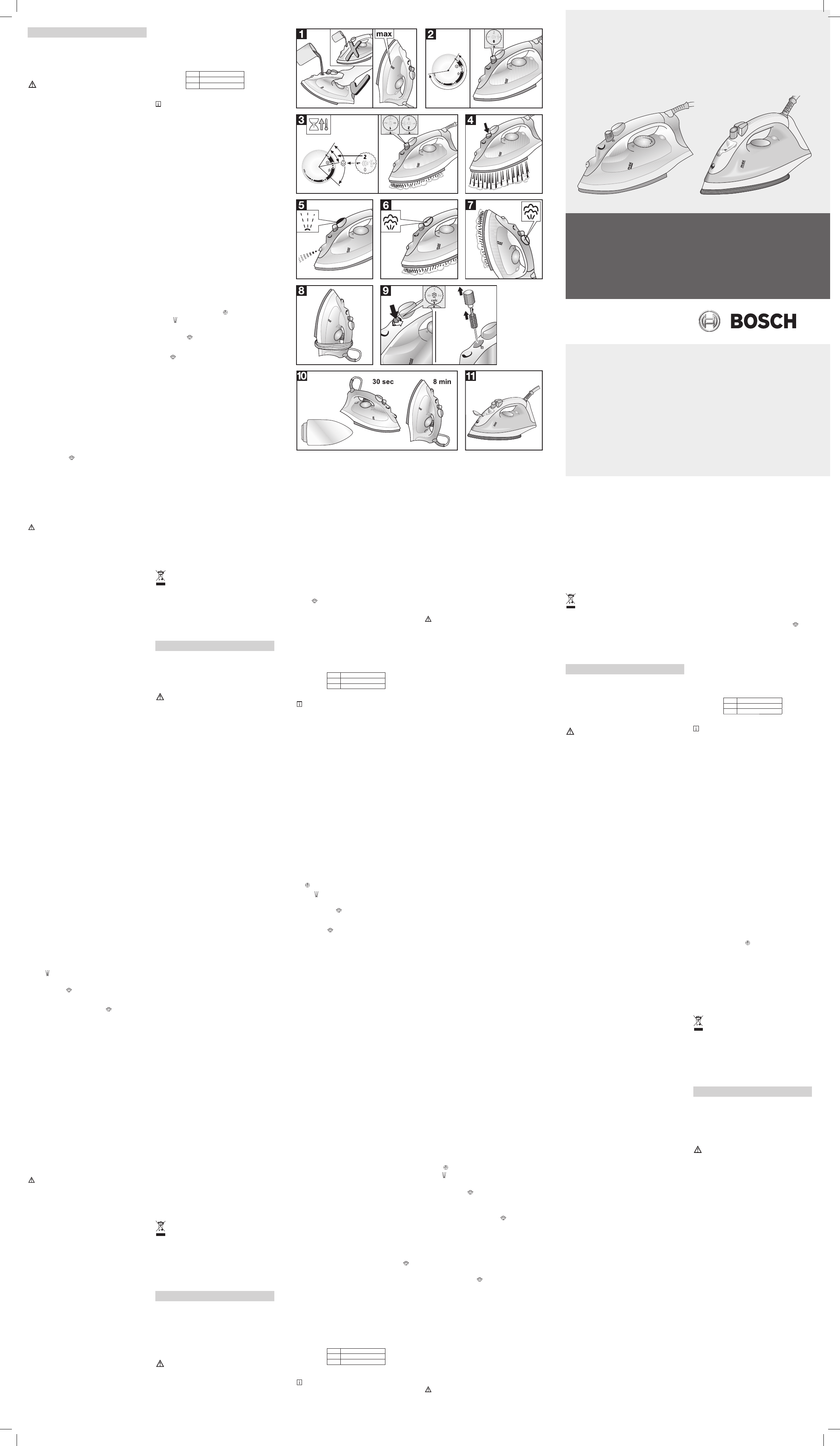 bedienungsanleitung bosch tda 2329 seite 1 von 2 deutsch englisch spanisch franz sisch. Black Bedroom Furniture Sets. Home Design Ideas