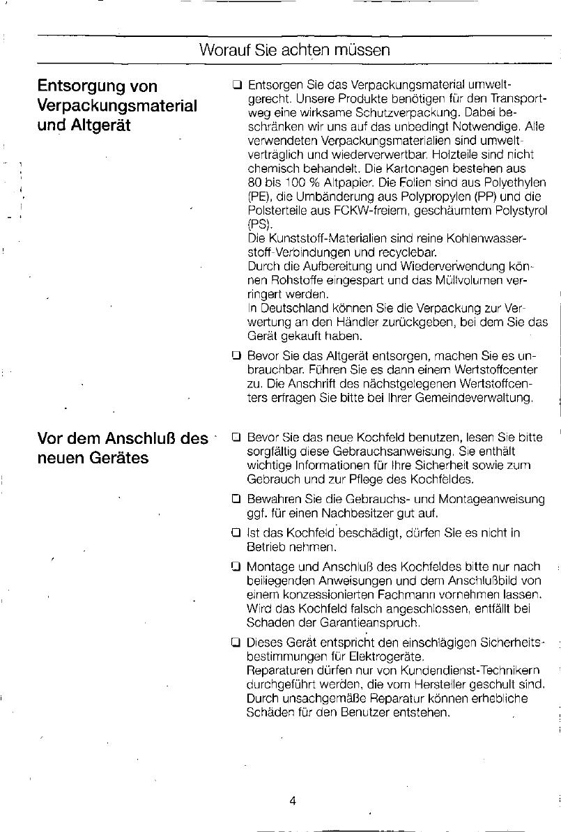 Bedienungsanleitung Siemens Eh 76450 Seite 4 Von 132