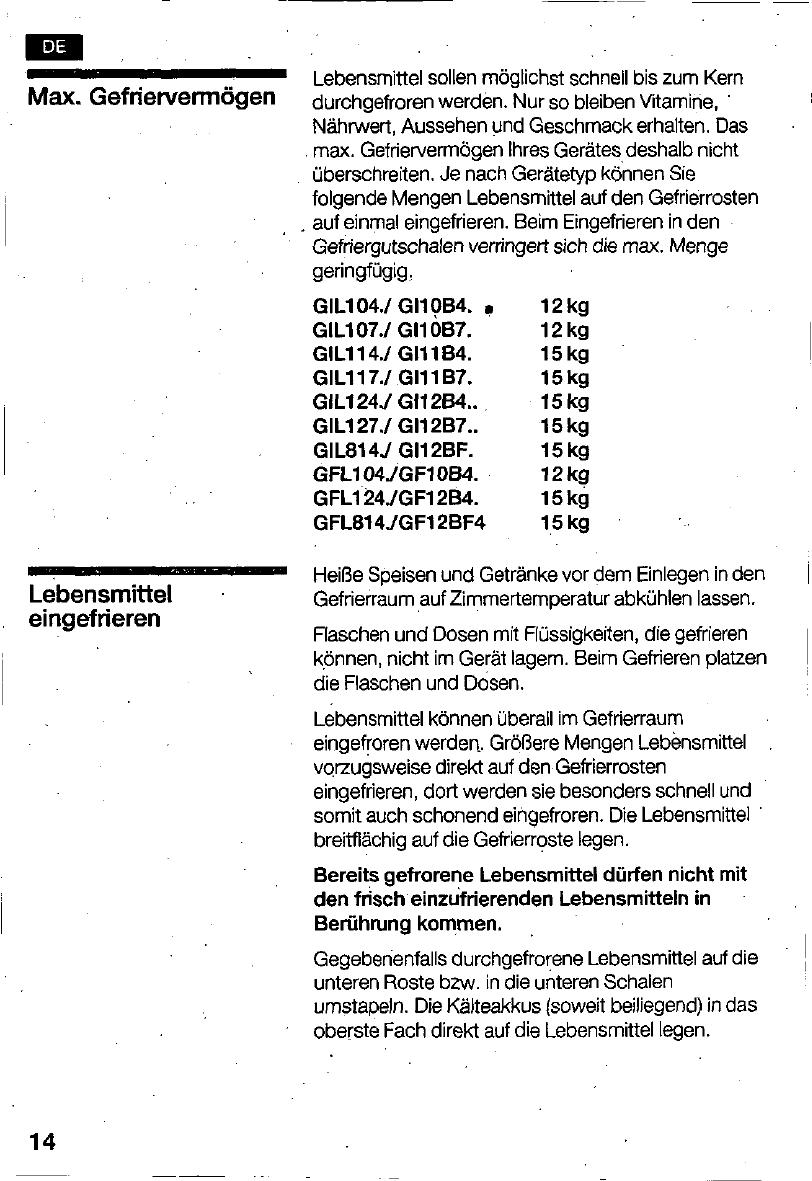 Bedienungsanleitung Bosch GIL 12441 (Seite 14 von 124) (Deutsch ...