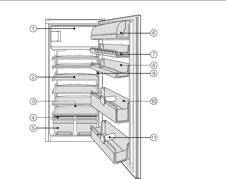 bedienungsanleitung miele k 683 i seite 4 von 36. Black Bedroom Furniture Sets. Home Design Ideas