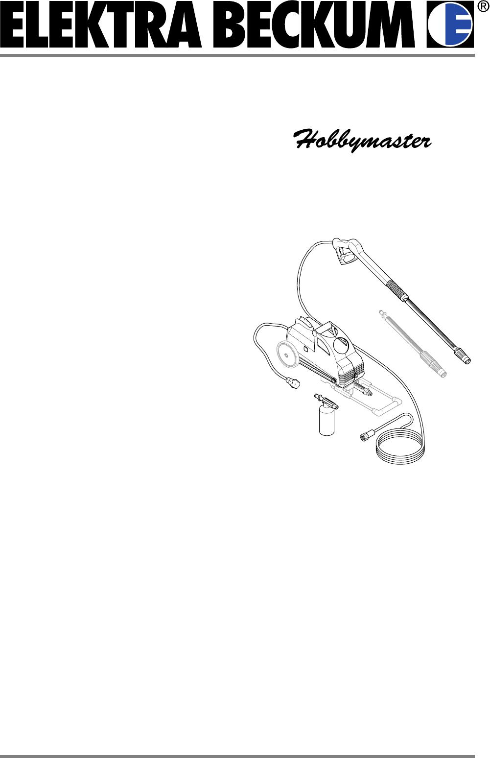 Häufig Bedienungsanleitung Elektra Beckum HD 111-420 (Seite 3 von 48 DT12