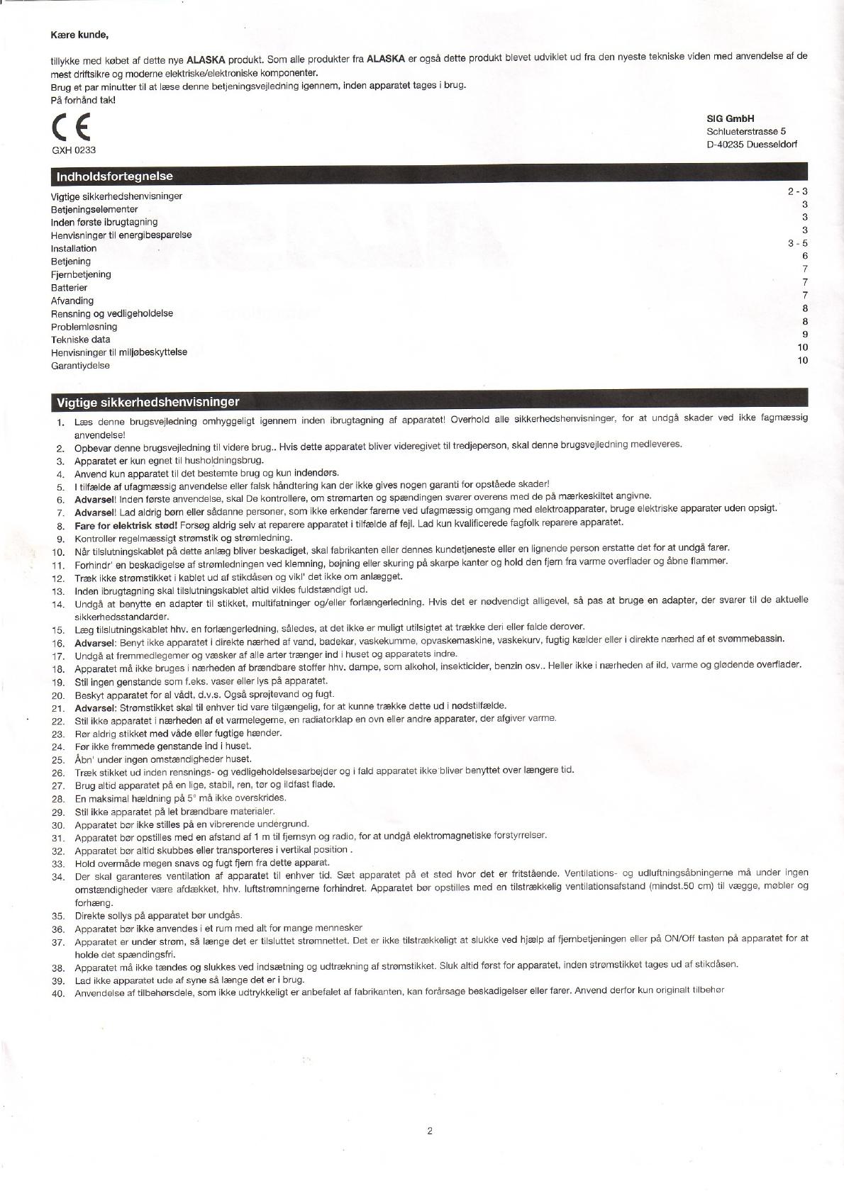 alaska mac 12010 bedienungsanleitung