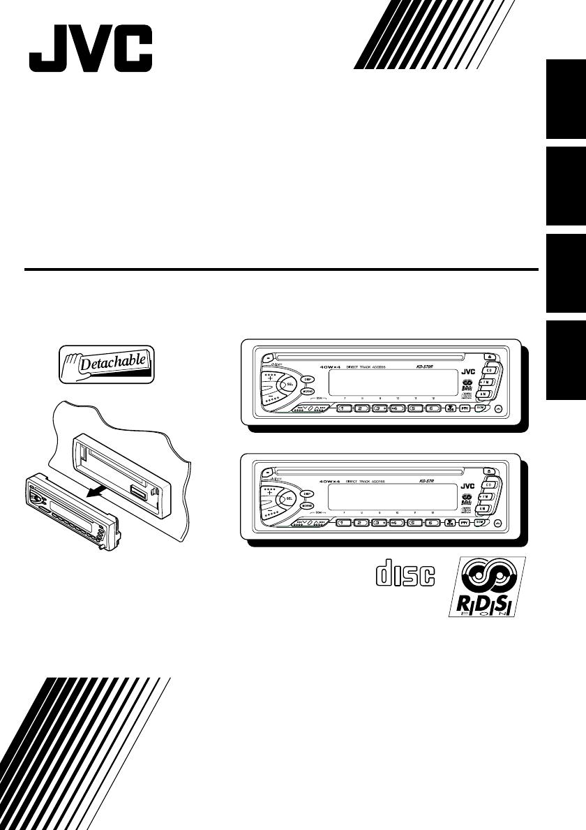 Bedienungsanleitung Jvc Kd S70r Seite 1 Von 138 Deutsch Englisch R330 Car Stereo Wiring Diagram Along With
