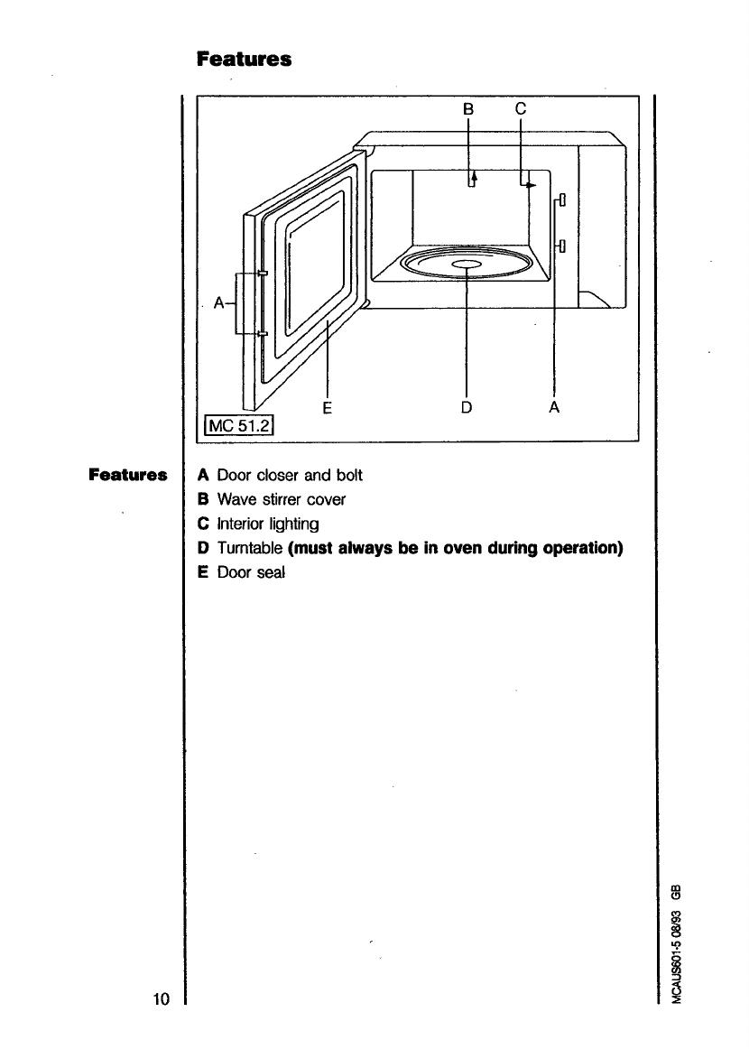 bedienungsanleitung aeg micromat 115 d seite 10 von 40 englisch. Black Bedroom Furniture Sets. Home Design Ideas