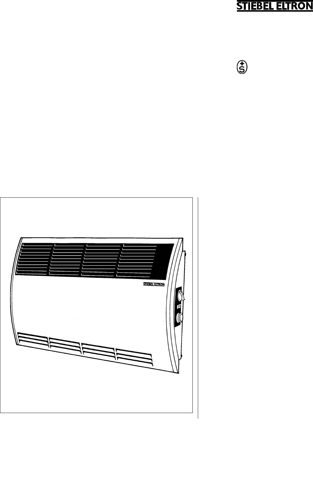 bedienungsanleitung stiebel eltron con 20zs seite 1 von. Black Bedroom Furniture Sets. Home Design Ideas