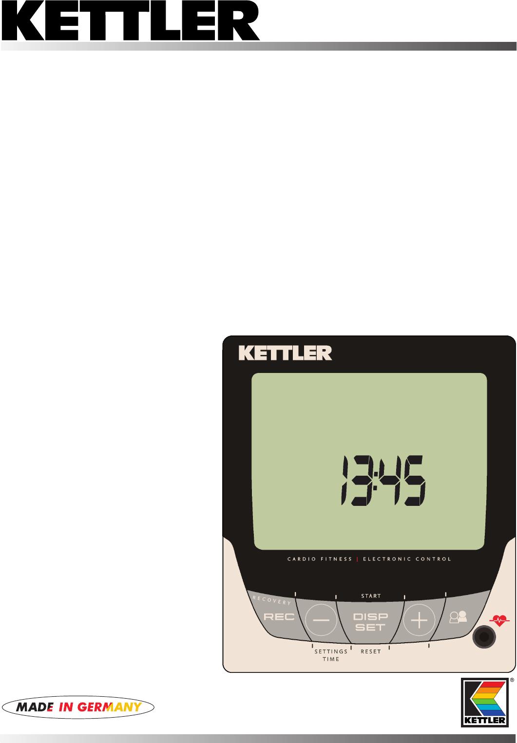 Super Bedienungsanleitung Kettler 07661-600 Golf M (Seite 1 von 132 QM-23