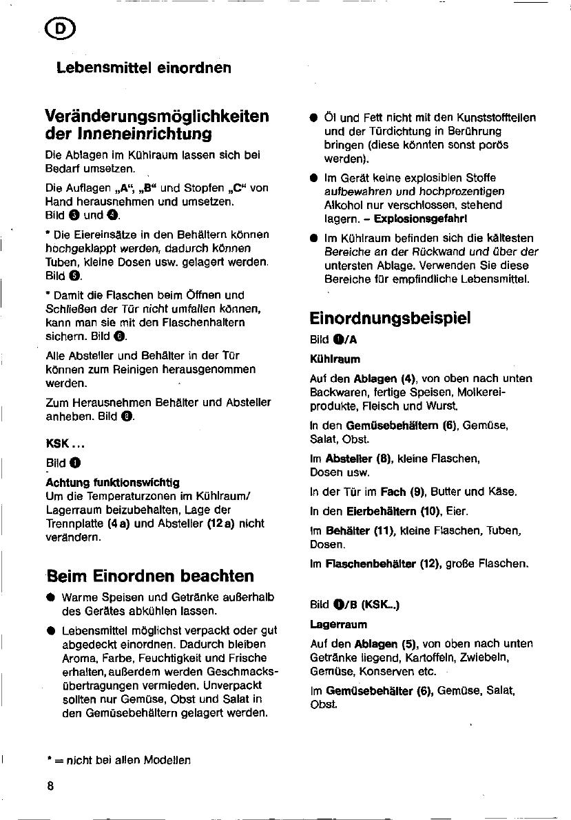 Bedienungsanleitung Bosch ksr 38460sd (Seite 8 von 97) (Dänisch ...