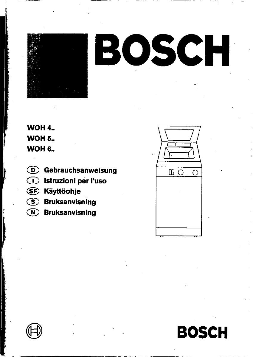 bedienungsanleitung bosch woh 4210 4210 si seite 1 von 88 deutsch. Black Bedroom Furniture Sets. Home Design Ideas