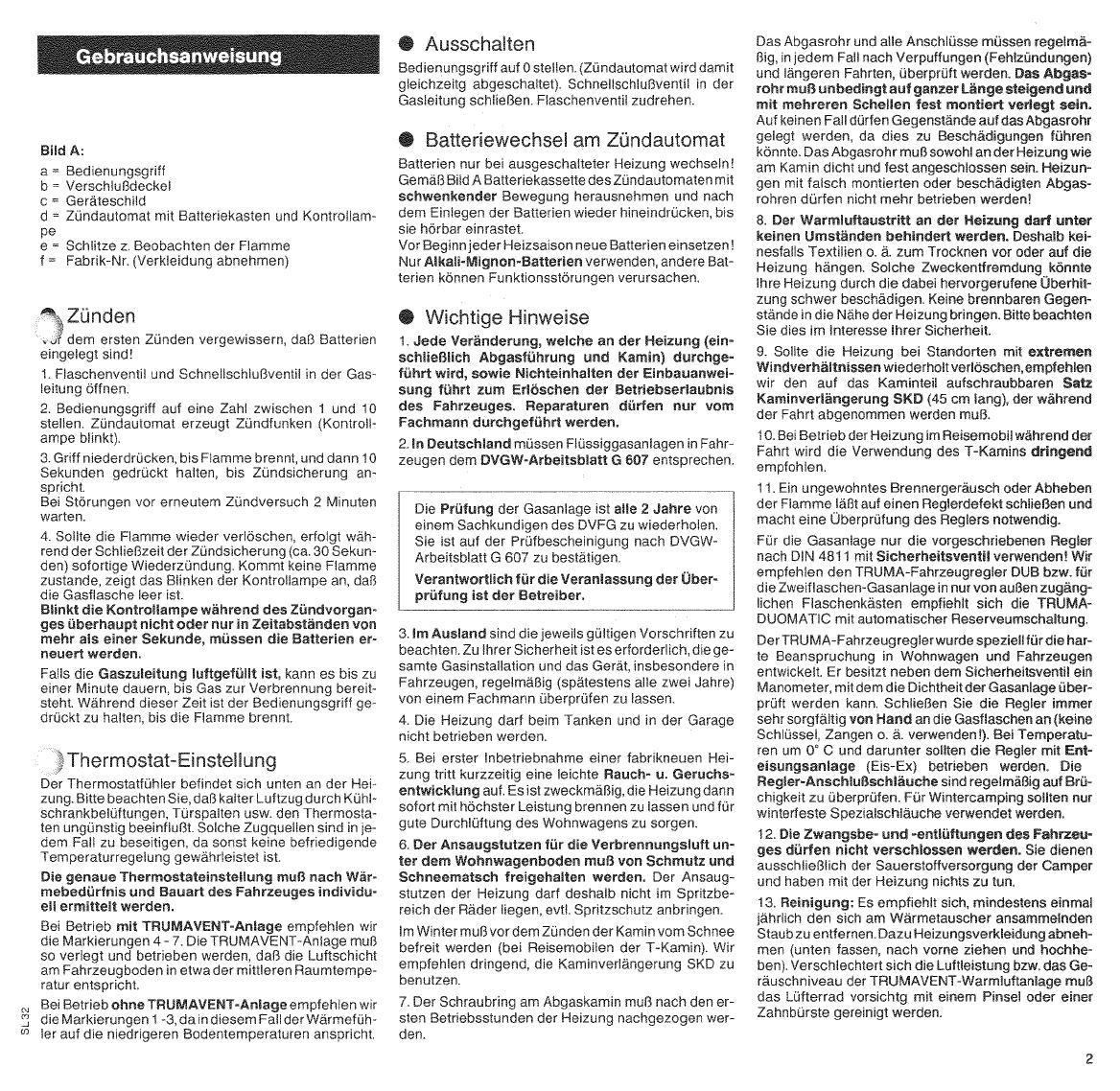 Bedienungsanleitung Trumatic SL3002 (Seite 3 von 18) (Deutsch ...
