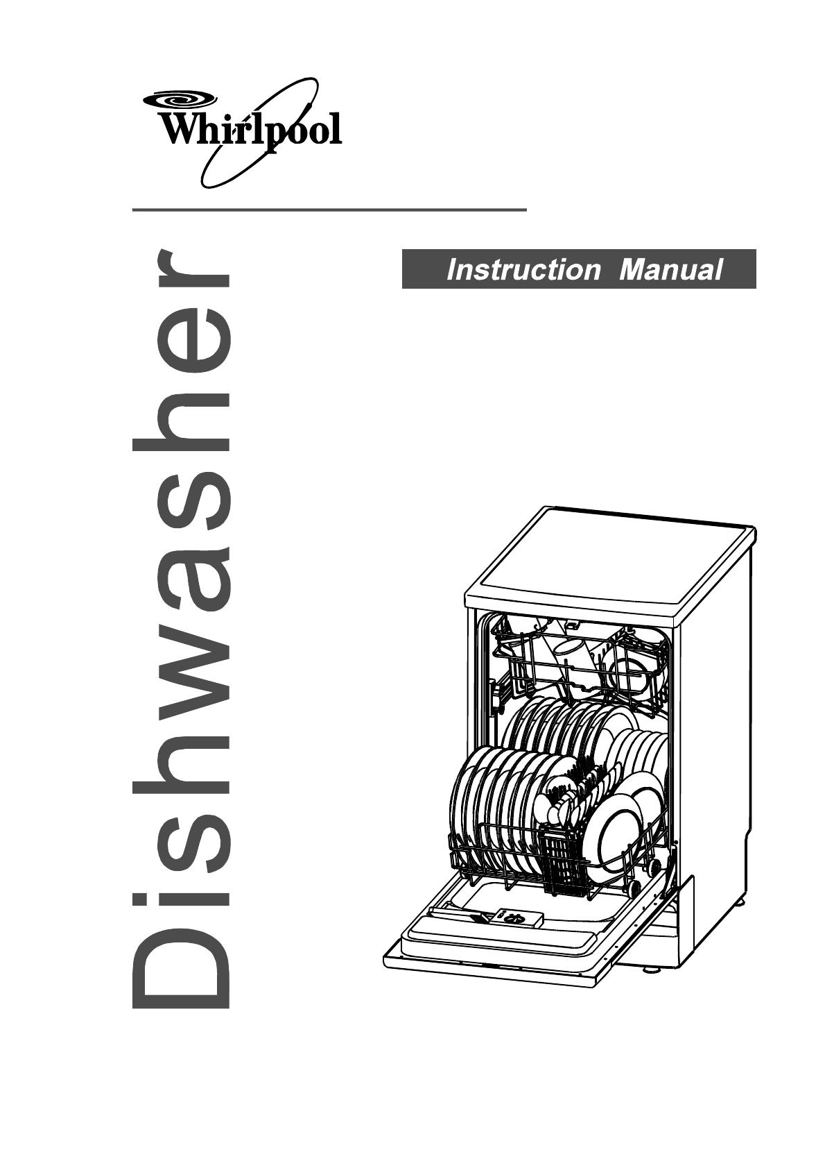bedienungsanleitung whirlpool adp 750 w (seite 1 von 23  ~ Geschirrspülmaschine Englisch