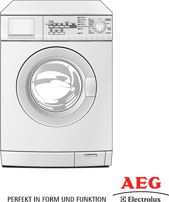 bedienungsanleitung aeg electrolux lavamat 64600 seite 1. Black Bedroom Furniture Sets. Home Design Ideas
