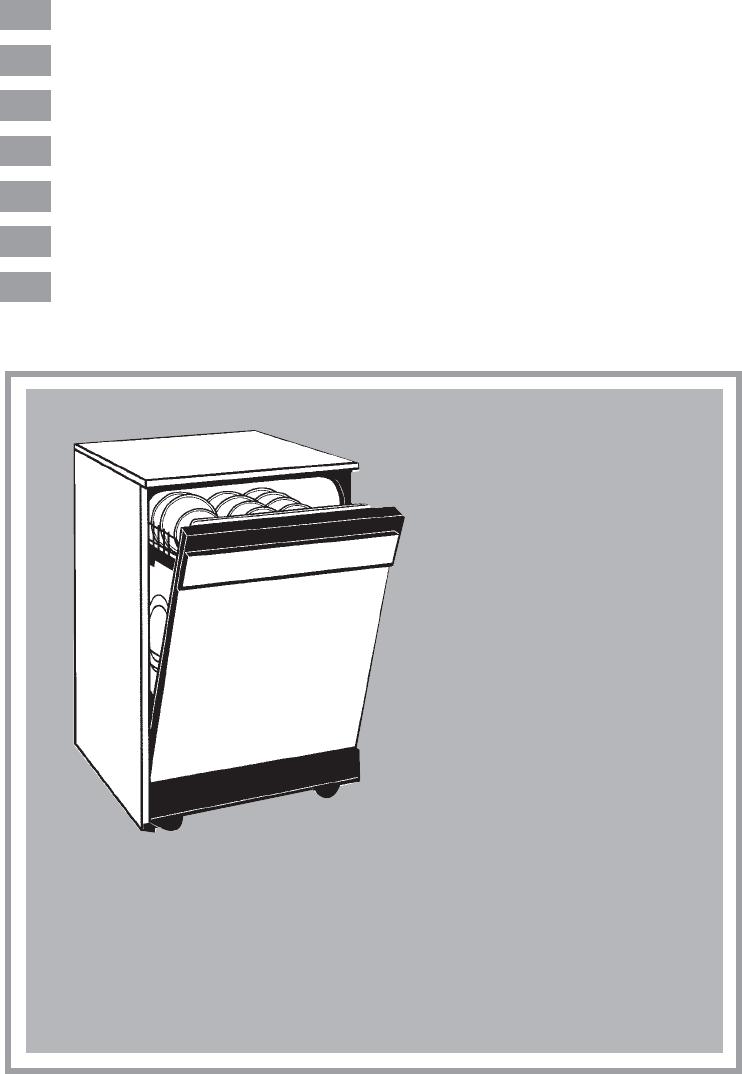 bedienungsanleitung candy cdf 615 a (seite 1 von 73  ~ Geschirrspülmaschine Englisch